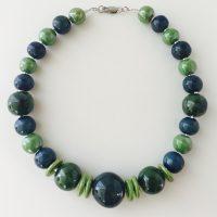 Kazuri Blue/Green Apple